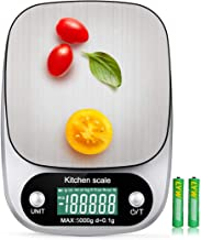 Digital Kitchen Scale 5000g/0.1g Multifunction Electronic Food Weight Gram Ounce 11lb/G OZ ML CT KG TL LB FL:OZ/Stainless ...