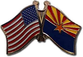 ALBATROS Pack of 6 USA American Arizona State Flag Lapel Pin for Bike Hat and Cap for Home and Parades, Official Party, All Weather Indoors Outdoors