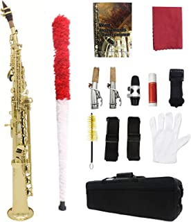 Key Type Woodwind Instrument Saxophone Sax Bb Key High F Key Brass Lacquered Gold Body and Keys Woodwind Instrument