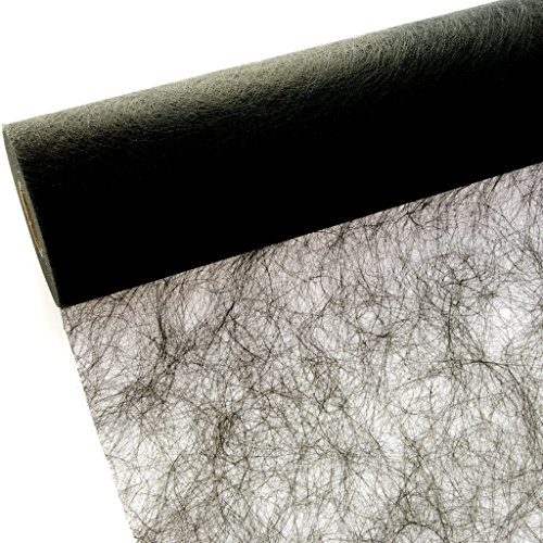 Deko AS GmbH Sizoflor Tischband schwarz 30 cm Rolle 25 Meter 60 017-R