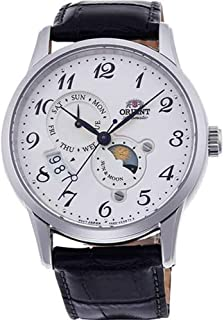 Orient RA-AK0003S10A Men's Sun and Moon Version 4 Multifunction Complicated Leather Band Automatic Watch