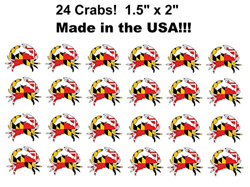 (24 Pack!) Maryland Crab Decal Sticker 1.5' x 2'