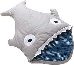 LSHCX Baby Toddler Shark Bites Sleeping Bag Swaddling Blanket Nursery Bedding Stroller Car Seat Jogger Wrap Sleep Sack, Grey