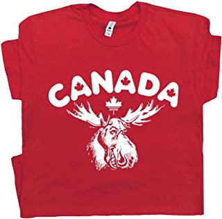 Canada Moose T Shirt Maple Leafs Tee Eh? Hoser Strange Beer Brew Canadian Whisky Map Flag Mens Women Kids