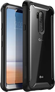 i-Blason Case for LG G7 /LG G7 ThinQ 2018 Release, [Ares] Full-Body Rugged Clear Bumper Case with Built-in Screen Protector (Black)