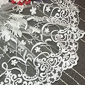 MOPOLIS Flower Lace Trim Embroidery Ribbon Wedding Sewing Bridal Dress Craft Applique #1//Black Color