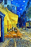 Cafe Terrace At Night by Vincent Van Gogh Puzzles for Adults, 300 Piece Kids Jigsaw Puzzles Game Toys Gift for Children Boys and Girls, 10' x 15'