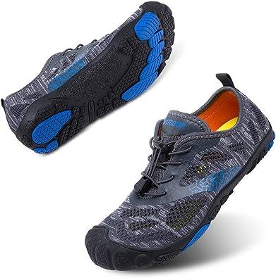 Scarpe Barefoot Scarpe Trail Running Uomo Donna Antiscivolo Scarpette da Mare Asciugatura Rapida Fitness Unisex Nuotare Nero Blu Grigio Rosa Taglia 35-47