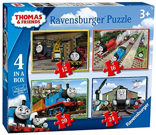 Ravensburger 69378 Thomas & Friends 4In1Box Puzzel - 12+16+20+24 Stukjes - Kinderpuzzel