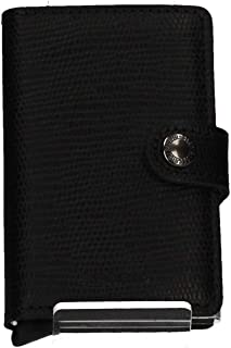 Secrid Mens Vintage Cognac Card Case Mini Wallet, Color Black