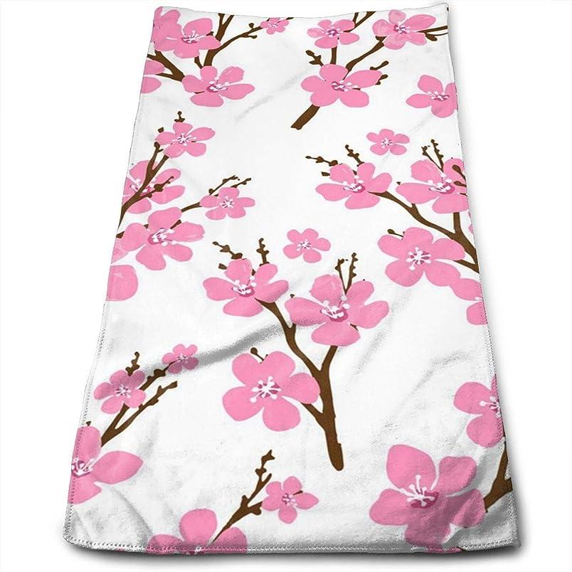 ハムスペア適応する桜ピンクのキッチンタオル-食器洗い機-洗濯機で洗えるコットンキッチンふきん、乾燥、クリーニング、調理、焼くための食器用タオルとティータオル30x70 cm