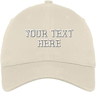 9d7fba03137 Personalize Your Custom Text On Cotton 6 Panel Unstructured Baseball Hat
