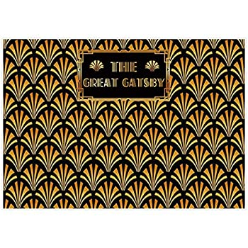 Allenjoy The Great Gatsby 1920s Retro Roaring Backdrop Golden 20 s 20s Step and Repeat Gold Art Birthday Wedding Party Decor Banner Baby Shower Newborn Photography Background 7x5ft Photo Booth Props