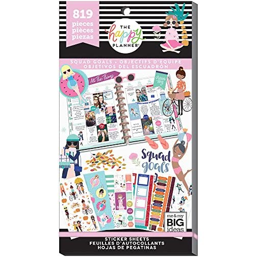 me & my BIG ideas Sticker Value Pack for Classic Planner - The Happy Planner Scrapbooking Supplies - Squad Goals Theme…  