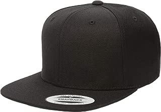 Yupoong Premium Classic Snapback Hat | Flat Brim, Adjustable Ballcap w/Hat Liner