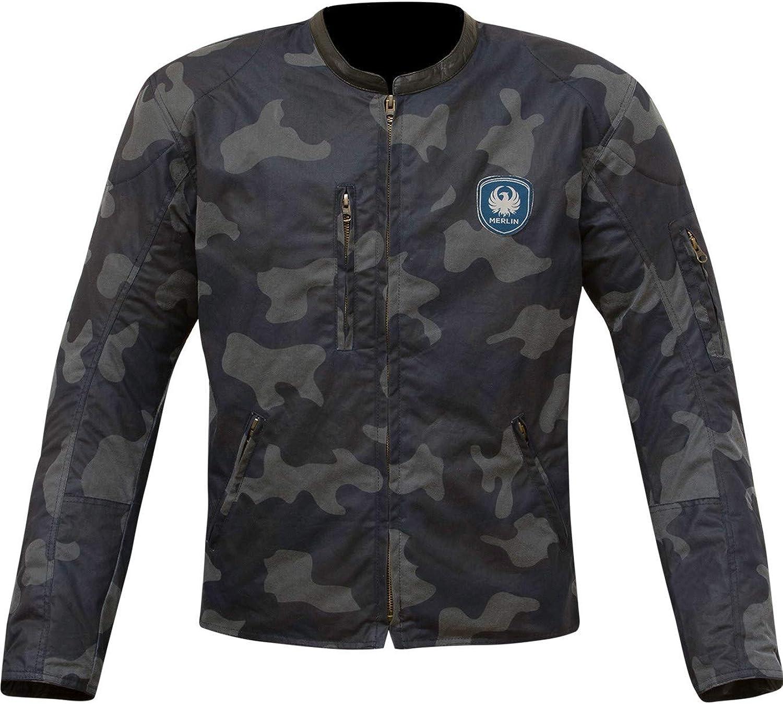 Merlin Cogreen Camo CE Wax Mens Jacket  blueee