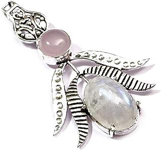 Nimbark Rainbow Moonstone Gemstone Ethnic Handmade Pendant Jewelry 1.5 to 2.5''