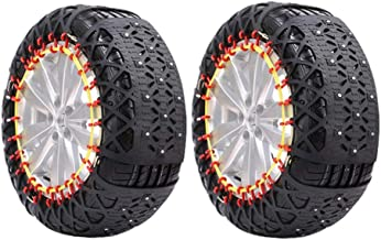 Snow Chain - Car Snow Chain Widened Thick Tires Snow Chain Car Off-Road Vehicle SUV Tire Snow Chains Easy to Install (Size : 22555R17)