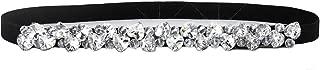 Womens Skinny Belt for Dresses Vintage Rhinestone Silver Stretch Waist Belt Retro Cinch BeltStretch Ladies Waist Belt
