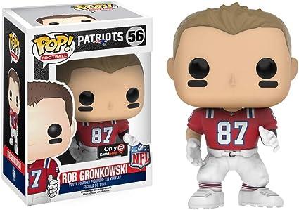 Funko POP! Rob Gronkowski Gamestop Exclusive #56 NFL Throwback Red Jersey