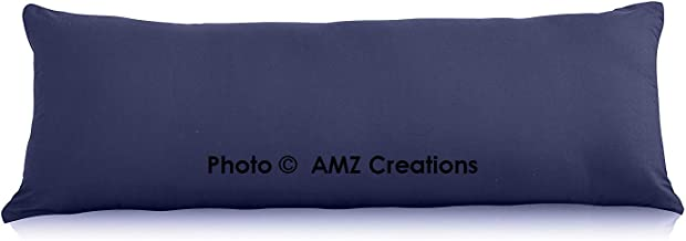 "AMZ Soft Microfiber Body Pillow Cover 21""x 54"" with Zipper Closure (Set of 1) (Navy Blue)"