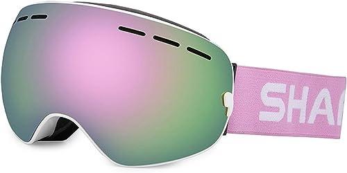 TCGYX Lunettes de Ski, Lunettes Anti-buée et Anti-UV for Hommes et Femmes, lentilles interchangeables, adaptées au Ski, Patinage sur Glace, Alpinisme en Plusieurs Couleurs