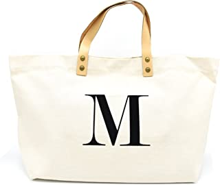 PumPumpz Canvas Tote Bag, Natural Color and Classic Monogrammed gifts.