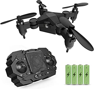 Mini Drone for Kids, Remote Control RC Helicopters Plane for Adults Beginners, Pocket Drones with Altitude Hold 3D Flips Headless Mode Easy Fly Educational Gifts for Boys Girls 6-12 Years Old