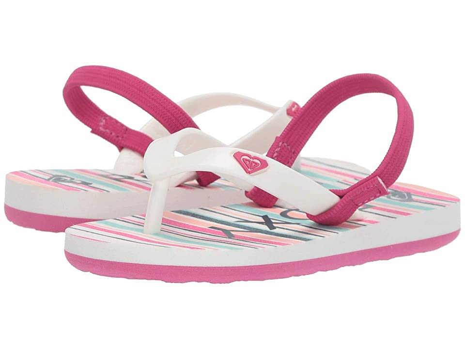 Roxy Kids Tahiti VI (Toddler) (Stripe Plumeria) Girls Shoes