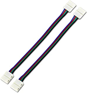 SOLDOUT™ 2 PCS LED 5050 RGB Strip Light connection 4 Conductor 10mm Wide Strip to Strip Jumper (Pack of 2)