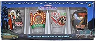 ICUP 15505 National Lampoon's Christmas Vacation Full Color Puns Pint Glass 4-Pack, Multicolor