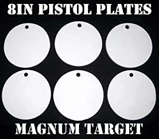8 Inch Round Steel Targets for Pistol Shooting 6 Piece Metal Target Set Manufactured by Magnum Target