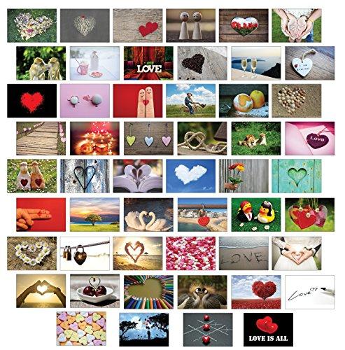 Postkarten Hochzeit/Liebespostkarten/Hochzeitsspiel 52 Wochen : jede Woche eine Postkarte - hochwertiges LEINENPAPIER für den besonderen Touch