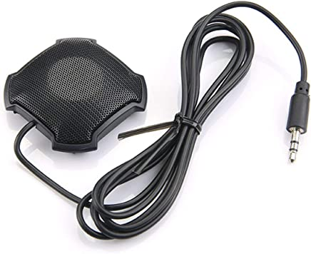 JullyeleITgant Microfono Pickup omnidirezionale con Microfono per conferenza a condensatore Jack Audio da 3,5 mm per Skype VOIP Call Voice Chat - Trova i prezzi più bassi