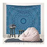 NTSM Black Mandala Indian Tapestry Wall Hanging Bohemian Beach Towel Polyester Blanket Yoga Mat Shawl Throw Sheet Pink Boho Tapestry (Color : 5, Size : 95x73cm)