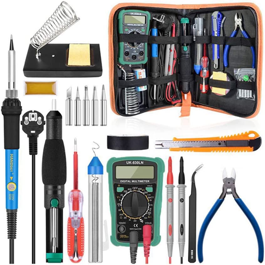 Challenge the lowest price CRZJ 25% OFF Electric Soldering Iron Kit 60W Temperature Adjustable Sol