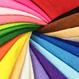 24pcs Thick 1.4mm Soft Felt Fabric Sheet Assorted Color Felt Pack DIY Craft Sewing Squares Nonwoven Patchwork (1515cm)