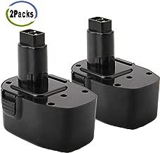 Creabest New 2 Packs 14.4V 3500mAh Ni-MH Replacement Battery Compatible with DEWALT DW9094 DC9094 DW9091 DW9094 DW935 DC9091 DE9091 DE9038 DE9094 DE9092 DE9031 DE9502 DEWALT 14.4V Power Tool Battery