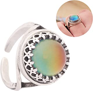 Mood Ring Adjustable in Antique Sterling Silver Finish Best Handmade Mood Stone with Free Gift MOJO JEWELRY