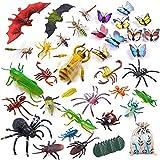 LATERN 45 Pezzi Corredi di Figure Dell'insetto di Plastica, 35pcs Realistici Insetti Bug Insetto Figure Giocattolo per L'educazione dei Bambini, Favori di Tema A Tema Insetti