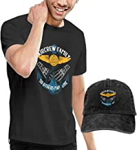 US Navy Search and Rescue Helicopter Swimmer Aircrew Family Male T-Shirt Short Sleeve Adult Fashion Tee+Cowboy Hat