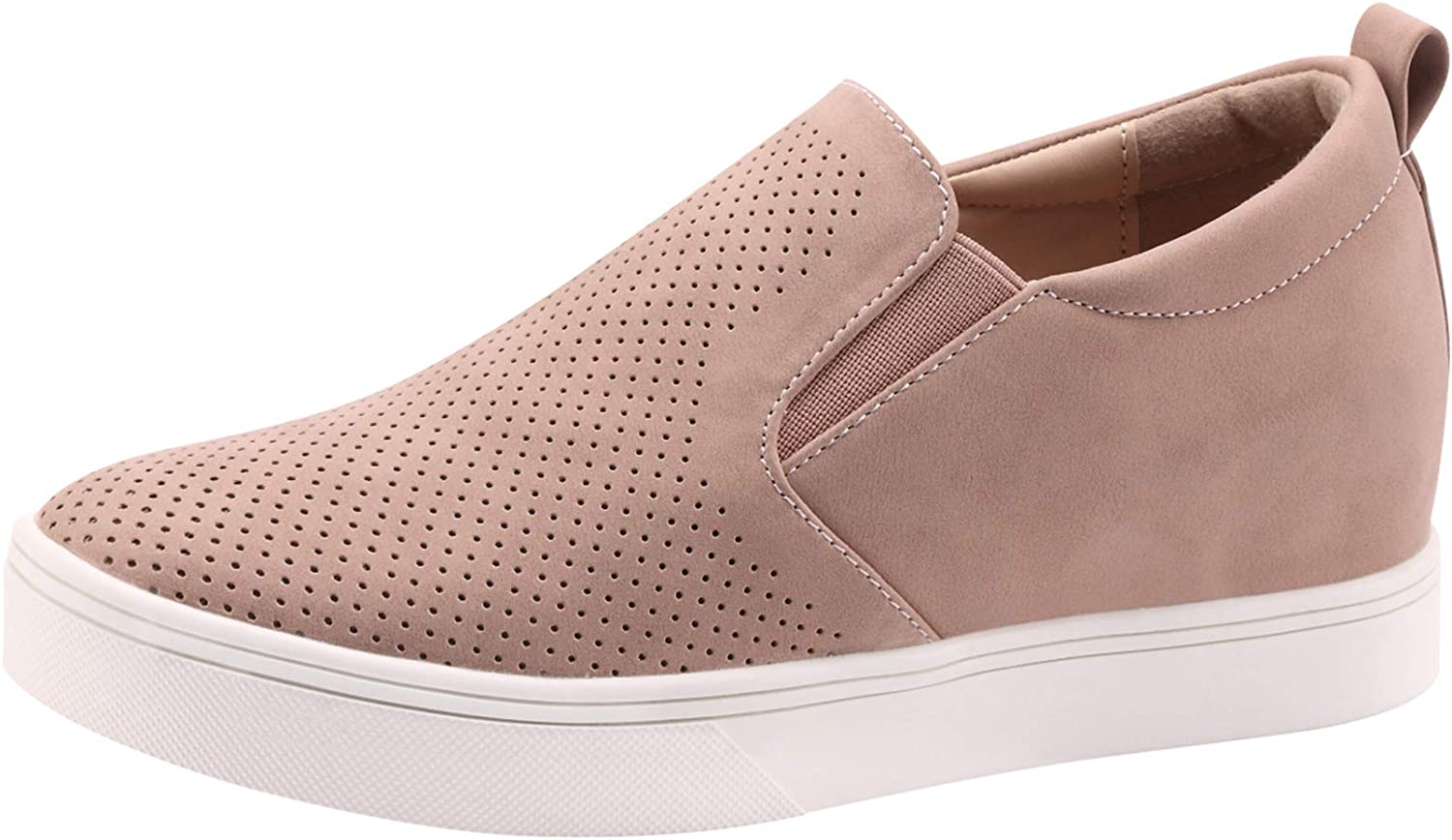Sofree Women's Slip On Wedge Platform Sneakers