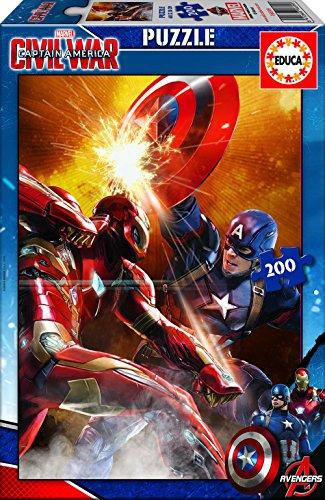 Capitán America - Puzzle Civil War, 200 Piezas (Educa Borrás 16699)