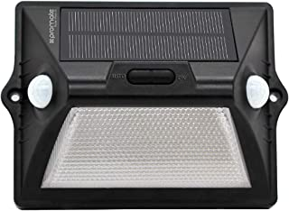 Promate LED Solar Light; Water-Resistant Solar Powered 12 LED Wall Light with Dual Motion Sensor, Dust-Proof, 8 LED Colour...