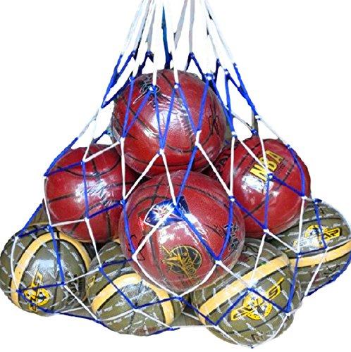 Ricce リッチェ リッチェ Ricce 大容量 ! バスケットボール 10個 収容 特大 メッシュ ボールネット 網袋 ネット 簡易バッグ キャリーバッグ 袋 サッカーボール バレーボール フットサル バスケ サッカー バレー 学生 部活 試合 練習 レッド Red, 10個