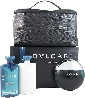 Bvlgari Aqva for Men 3 Pieces Set, 8.4 Ounce, Clean