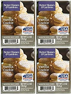 Better Homes and Gardens Vanilla Cookie Crunch Wax Cubes – 4-Pack