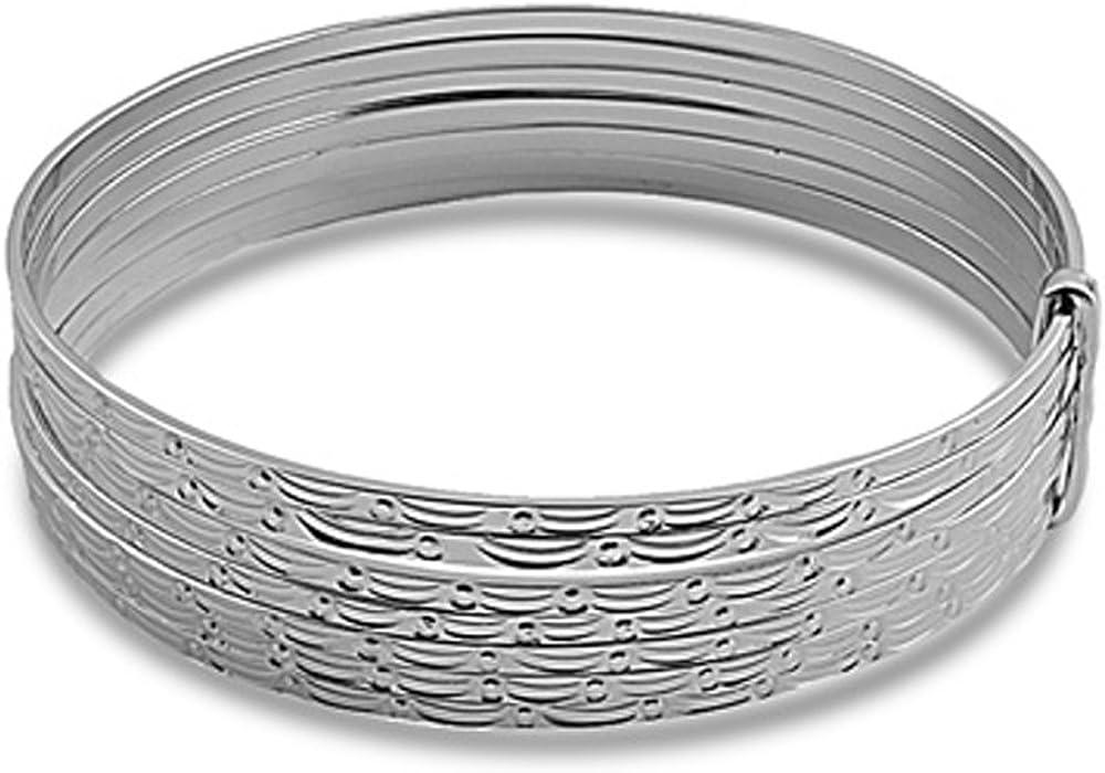 15mm Sterling Silver Bracelet Seven Day Semanarios DC Slip On Ba