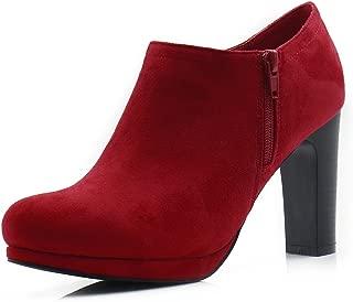Allegra K Women's Round Toe High Heel Ankle Boots