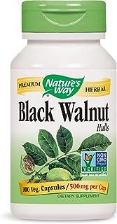 Nature's Way Black Walnut Hulls 500 mg per capsule, 100 Vegetarian Caps, Pack of 2